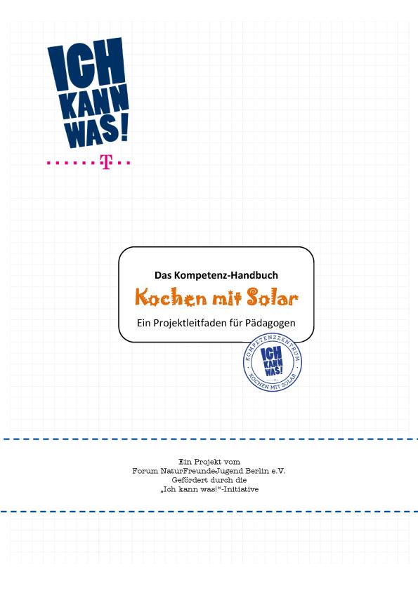 Handbuch Kochen mit Solar